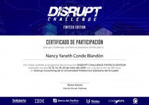 Certificado Nancy Conde_Disrupt Challenge